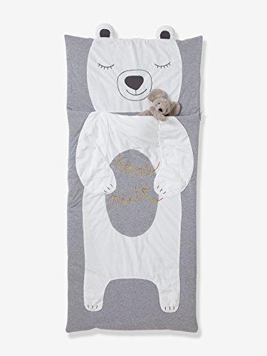 Vertbaudet Schlafsack Teddy für Kinder hellgrau ONE Size