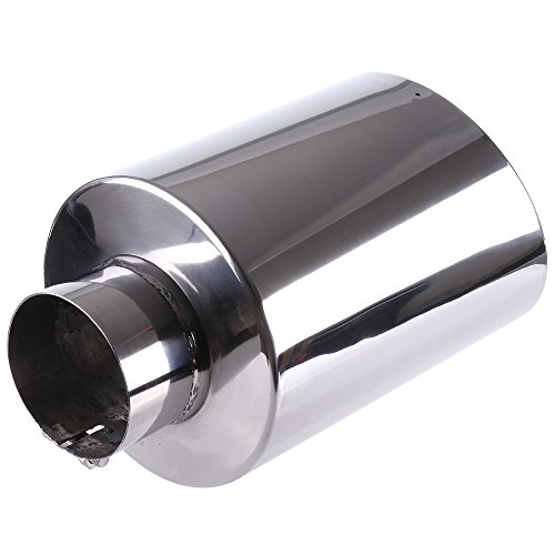 ECCPP Diesel Exhaust Tip 4' Inlet 8' Outlet Exhaust Tips 15' Long Mirror Polished Stainless Steel Exhaust Tailpipe