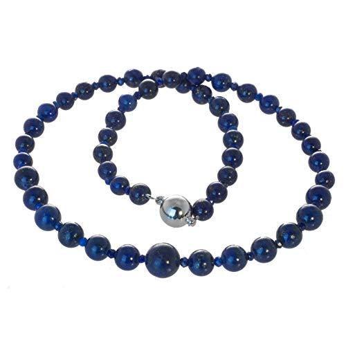 Armella Lapislazuli Kette Collier Perlenkette Edelstahl Magnetverschluss (45)