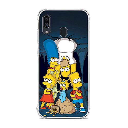Soft Clear Shockproof Thin Durable Flexible Case for Samsung Galaxy A30/A20/M10S-The-Simpson Homer-Father 1