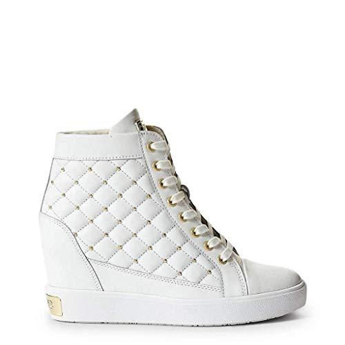 Guess Scarpe Donna Sneaker Alto Zeppa MOD. FURR Pelle col. Bianco D19GU11