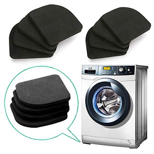 QISF Lot de 8 tapis de lave-glace anti-vibrations en EVA pour machine à laver, réfrigérateur, sèche-linge, tapis de course, chaise de table
