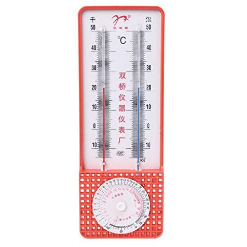 WT-DDJJK higrómetro, termómetro higrómetro de Bulbo húmedo y seco para Temperatura de Invernadero del hogar RH