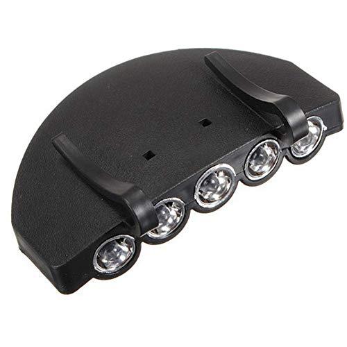 Gcroet 5 Led Luz del Casquillo del Sombrero del Clip De La Linterna, Sombrero Dark Light De Jogging Al Aire Libre Deportes (batería Incluida)