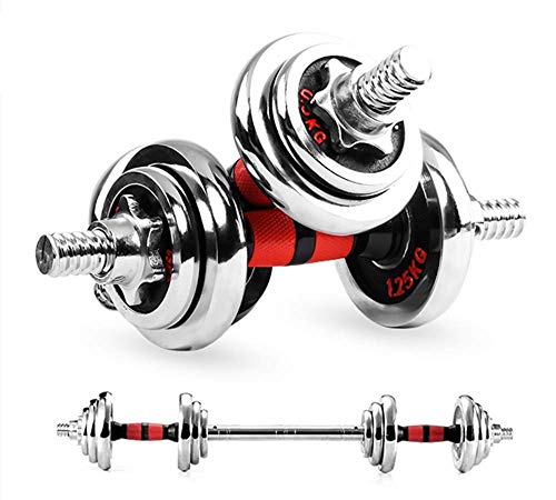 BGY ダンベル バーベル 可変式10kg 15kg 20kg 30kg 50kg 鉄アレイ 筋力トレーニング ダイエット シェイプアップ 延長用シャフト 収納ケース ホームジム 自宅 (10kg)