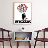 Xndz Signature Guest Book 2Set Signature Painting, Innovative Fingerprint Painting, Birthday Party Baby Showers for Wedding