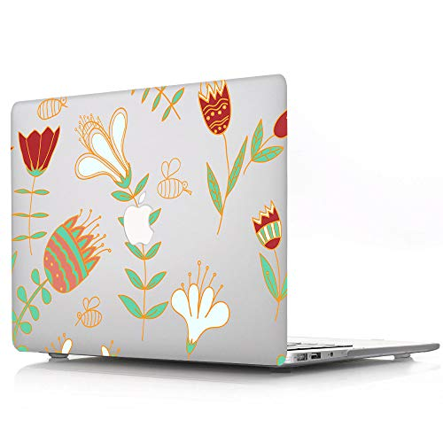 Plastic Hard Shell Case Compatible MacBook Pro 13 inch / 13.3 inch with Touch Bar and Touch ID 2016-2020 Release A1706 A1708 A2289 A1989 A2159 A2251 A2338 - Flower Painting
