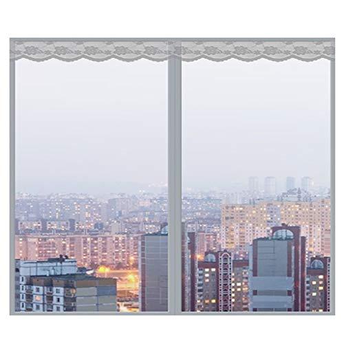 Magnetisch vliegengaas, voor ramen en insecten, magnetisch horren, voor ramen 120x150Cm(47x59Zoll) grijs