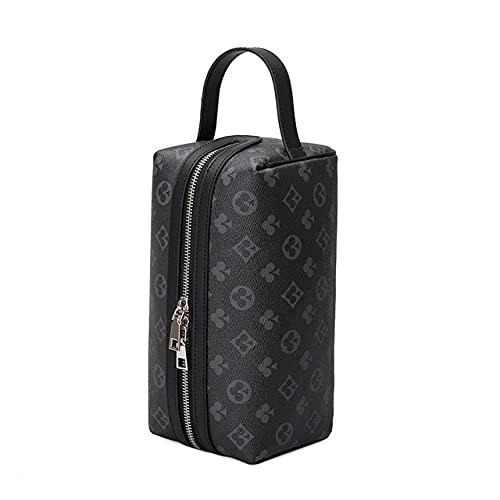 LSZA Bolso de Cosméticos,Women Makeup Bag Organizer Travel Ladies Toiletry Kit Cosmetic Bag Case Luxury Designer Beauty Case Portable Wash Pouch,Black