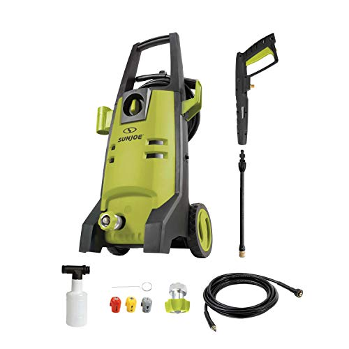 Sun Joe SPX2003 2000 PSI Max Electric Pressure Washer w/Quick Change Lance, 3 Included Tips, Foam Cannon
