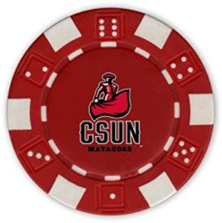 CollegeFanGear Cal State Northridge Red Game Chip 'CSUN Matador'