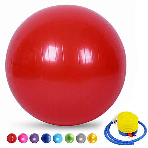 AIYKXY Yoga Ball Sportballerina Damen Balance Ball Fitnessball Gymnastikball FüR BeckenüBungen-rot,35cm