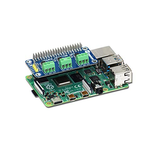 sb components Power Monitoring HAT 3 Channel Current/Voltage/Power Monitor HAT for Raspberry Pi 4B/3B+/3B/2B/B+/A+/Zero and Zero W, Raspberry Pi Power Monitoring HAT