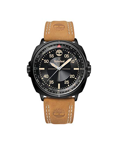 Timberland Herren Analog Quarz Uhr mit Leder Armband TBL.15516JSB/02