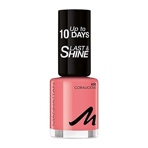 Manhattan Last und Shine Nagellack, Nr.430 Coralicious, 1er Pack (1 X 10 ml)