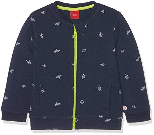 s.Oliver s.Oliver Baby-Mädchen 65.802.43.5013 Sweatshirt, Blau (Glockenblume AOP 58B4), 68