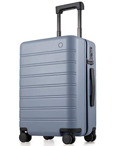 NINETYGO Gepäck mit Spinnrollen, 100% PC Hardside Leichter TSA-konformer Koffer mit Wäschesack, für Geschäftsreisen & Reisen, grau (Grau) - P21080A1