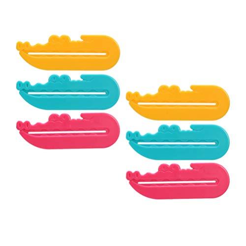 HEALLILY Tube de Dentifrice Presse-Papiers Dentifrice Porte-Siège Clips pour Dentifrice Salon de Coiffure Crème pour Les Mains Tube de Peinture Cosmétiques 6 Pcs Couleur Aléatoire