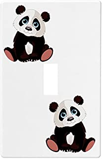 Baby Panda Bear Wallplate Decorative Switch Plate Cover (1 Gang - Single Toggle)