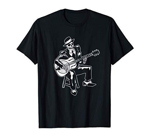 Guitarrista de Skeleton American Blues Music Camiseta
