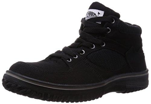 [キタ] 安全靴 作業靴 メガセーフティ キャンバスアッパーミドルカットタイプ MG-5590 ブラック 28 cm 3E