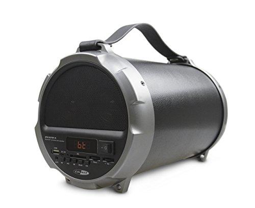 Caliber HPG507BT-9 Tragbarer Bluetooth Lautsprecher mit wiederaufladbare Batterie, UKW Radio, SD, USB und Aux-in (3.5mm), schwarz