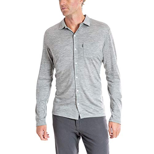Woolly Clothing Men's Merino Wool Long Sleeve Button Up - Wicking...