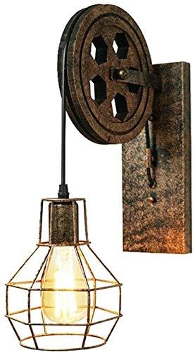 Lámpara de pared de hierro viejo flexibles pared del dormitorio de la lámpara de pared lámpara de interior E27 loft de diseño Ascensor Industria,Brown