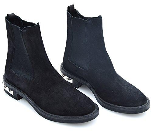 miu miu Stivale alla Caviglia Donna CAMOSCIO Nero Art. 5T651A 36 Nero - Black