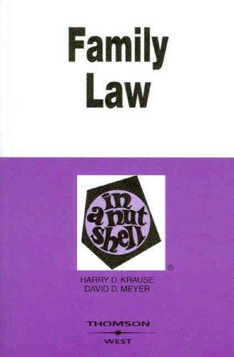 Family Law in a Nutshell (Nutshells)