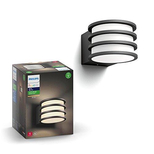 Philips Hue LED Wandleuchte Lucca für den Aussenbereich, dimmbar, warmweißes Licht, steuerbar via App, kompatibel mit Amazon Alexa (Echo, Echo Dot)