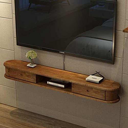 Gabinete de TV Mueble de pared Estante de pared Estante flotante Conjunto de cajas enrutador Accesorios multimedia Organizador Gabinete de almacenamiento Gobierno Rack TV Console TV Soportes Pantalla