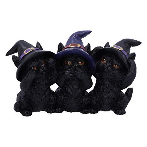 Nemesis Now Three Wise Black Cats See No Hear No Speak No Evil Familiar Figurine, 11.5cm