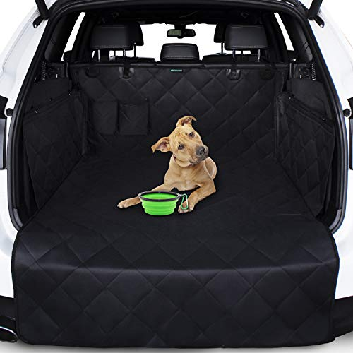 Kofferraumschutz für Hund - Hundedecke fürs Auto und Stoßstangenschutz - 4-lagiger-Kofferraumschutz für Hund mit Seitenschutz - wasserdichte, rutschfeste Abdeckung - Universelle 4x4 SUV-Kombiwagen