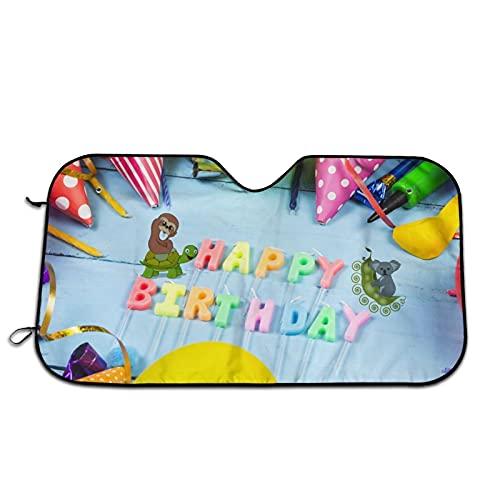 Velas de cumpleaños para parabrisas de coche, parasol para ventana frontal, bloqueos de rayos UV, protector de visera para mantener tu vehículo fresco
