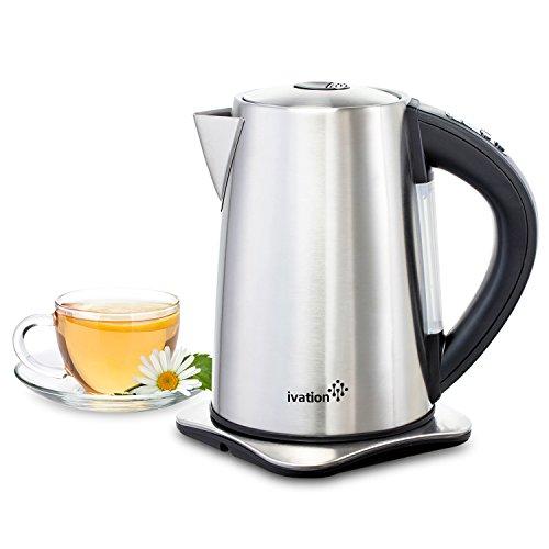 Ivation Precision-Temperature Electric Hot Water Tea Kettle Pot 1.7 Liter (7-Cup), 1500 Watt,...