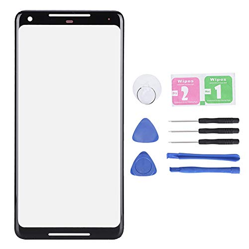 Placa de Cubierta Frontal de Vidrio de Repuesto de Pantalla Exterior de teléfono móvil de 6 Pulgadas para Google Pixel 2XL con Herramienta de reparación