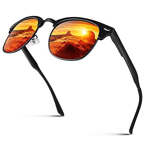 CGID GD58 Aleación Al-Mg estilo gafas de sol polarizadas UV400,gafas de sol con remaches metálicos para hombres y mujeres