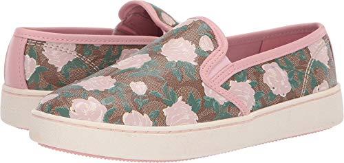 COACH C117 Slip-On Floral Khaki/Pink 7
