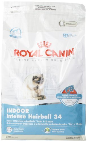 Royal Canin Dry Cat Food, Intense Hairball 34 Formula, 6-Pound Bag by Royal Canin