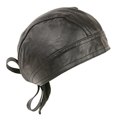 Unisex Leather Skull Cap