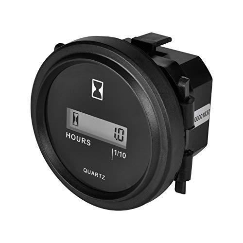 Medidor de horas LCD redondo de cuarzo, medidor de hora, medidor de hora DC4,5 V 90 V 5 V 12 V 24 V 36 V 72 V 90 V