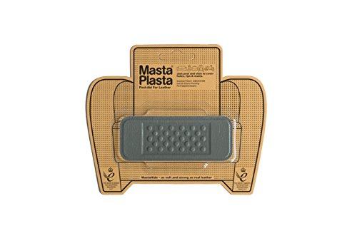 MastaPlasta - Parches autoadhesivos para reparacion de Cuero y Otros Tejidos. Gris. Elije el tamano y el diseno. Primeros Auxilios para sofas, Asientos de Coche, Bolsos, Chaquetas