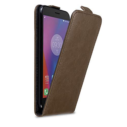 Cadorabo Hülle für Lenovo K6 / K6 Power in Kaffee BRAUN - Handyhülle im Flip Design mit Magnetverschluss - Hülle Cover Schutzhülle Etui Tasche Book Klapp Style