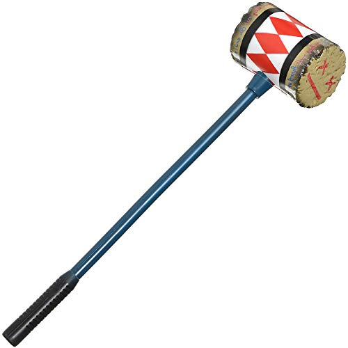 """Amscan Harley Quinn Mallet for Adults, Birds of Prey Halloween Costume Prop, Plastic, 7"""" W x 29.5"""" L"""