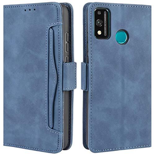 HualuBro Funda para Honor 9X Lite, Funda Libro de Premium PU Cuero con Ranura para Tarjetas y Billetera Flip Cover Magnético Carcasa para Huawei Honor 9X Lite Case, Azul