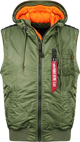 Alpha Industries Hooded MA-1 Weste Oliv M