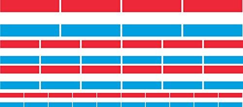 Mini Aufkleber Set - Pack glatt - 4x 51x31mm+ 12x 33x20mm + 10x 20x12mm- Sticker - Luxemburg - Flagge - Banner - Standarte fürs Auto, Büro, zu Hause & die Schule - Set of 26