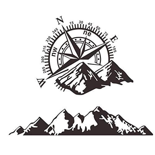 Etiqueta engomada del coche del vinilo de la impresión de la montaña de la brújula Etiqueta engomada del cuerpo del coche al aire libre