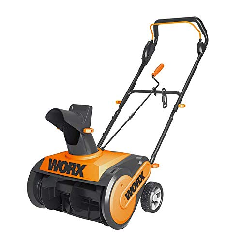 WORX 18' 13A WG450 Electric Snow Thrower, Black and Orange